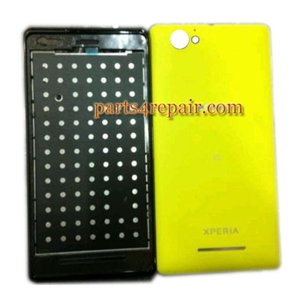 Front Cover & Back Cover for Sony Xperia M C1905 -Yellow from www.parts4repair.com