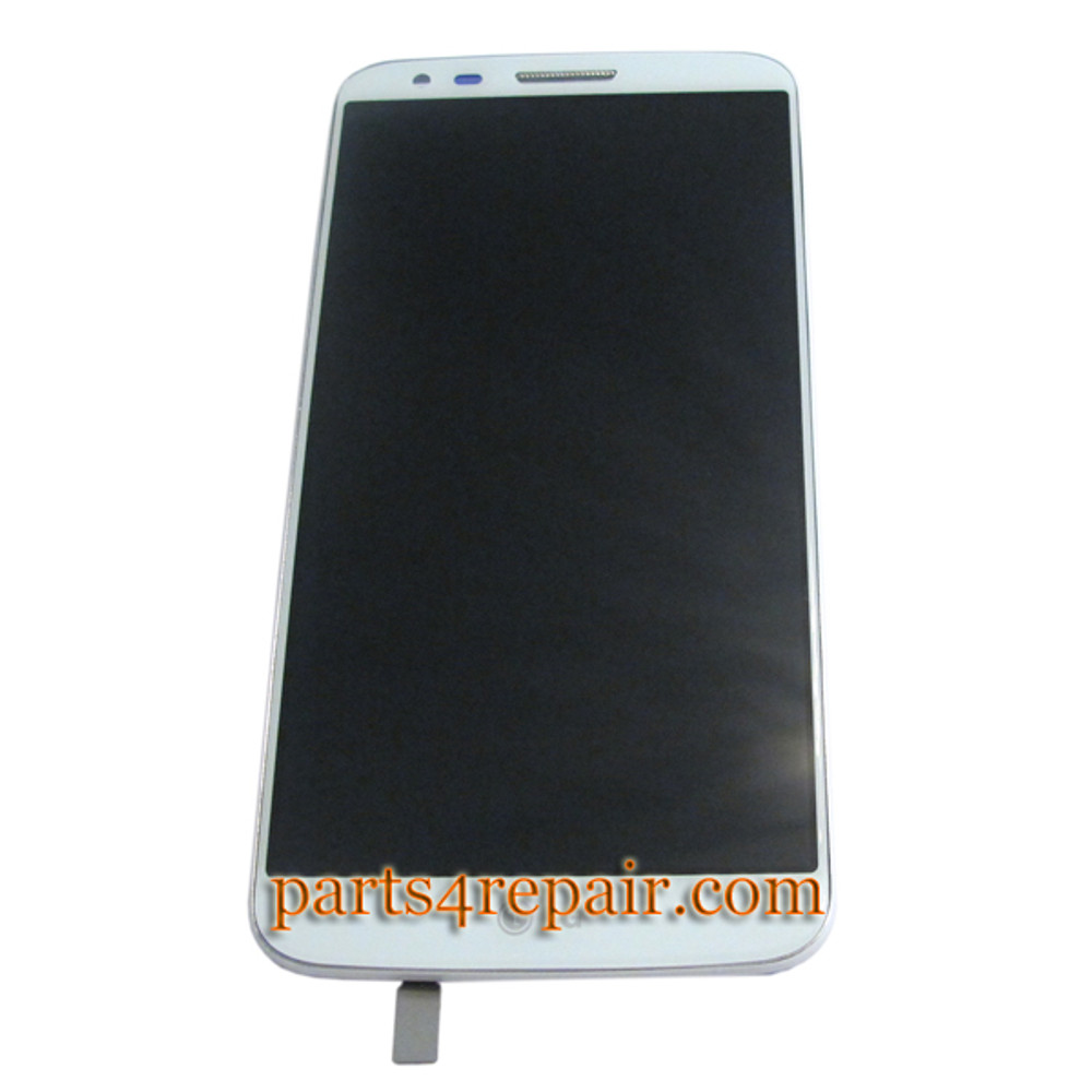Complete Screen Assembly with Bezel for LG G2 D802 -White