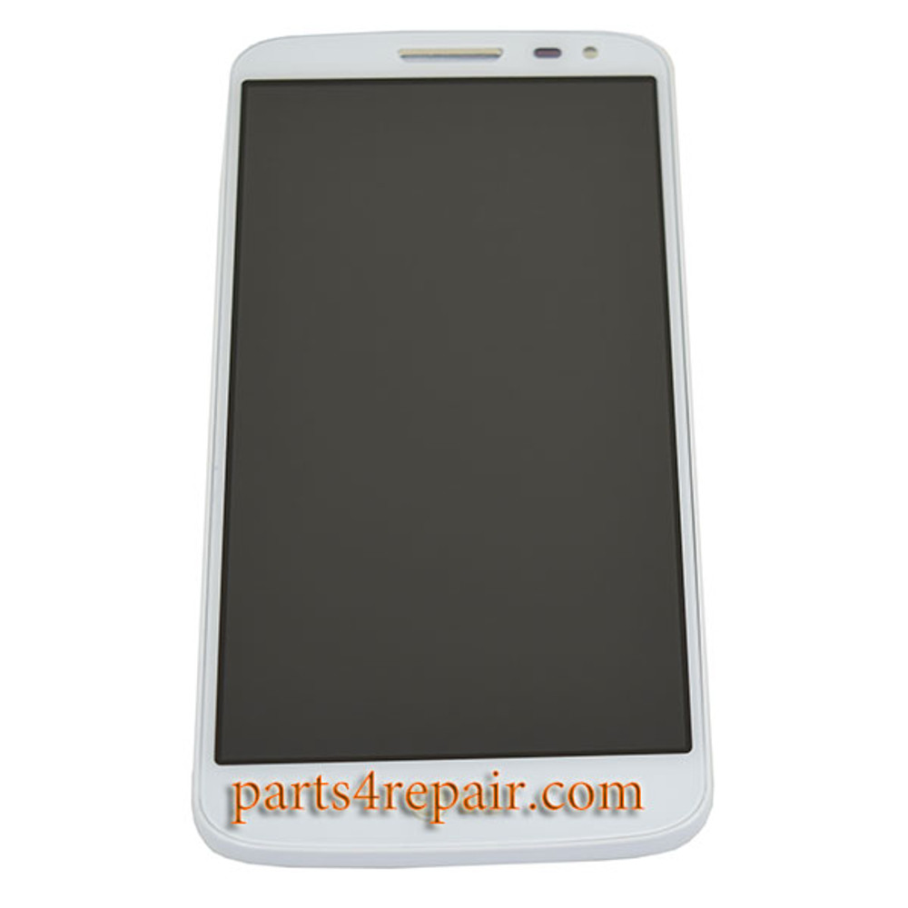 Complete Screen Assembly with Bezel for LG G2 mini -White from www.parts4repair.com
