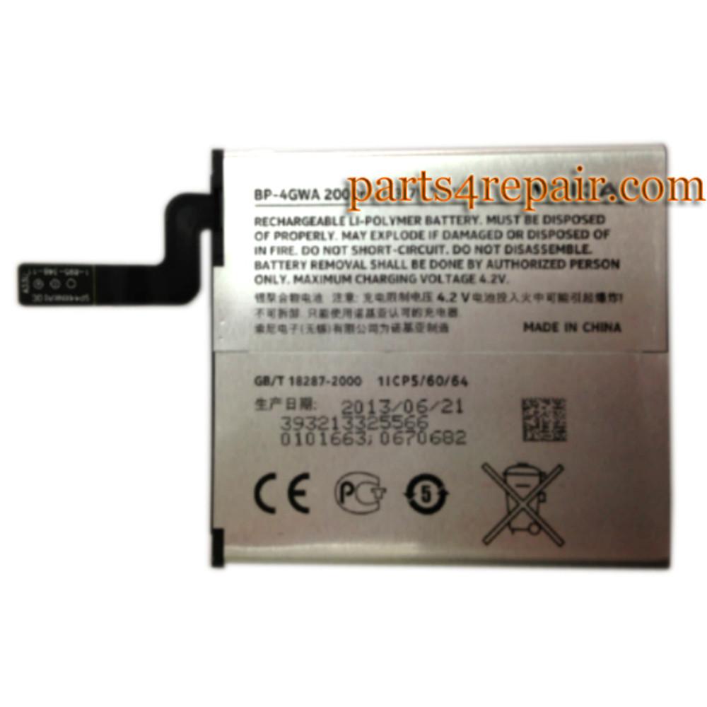 BP-4GWA 2000mAh Battery for Nokia Lumia 625 720 from www.parts4repair.com