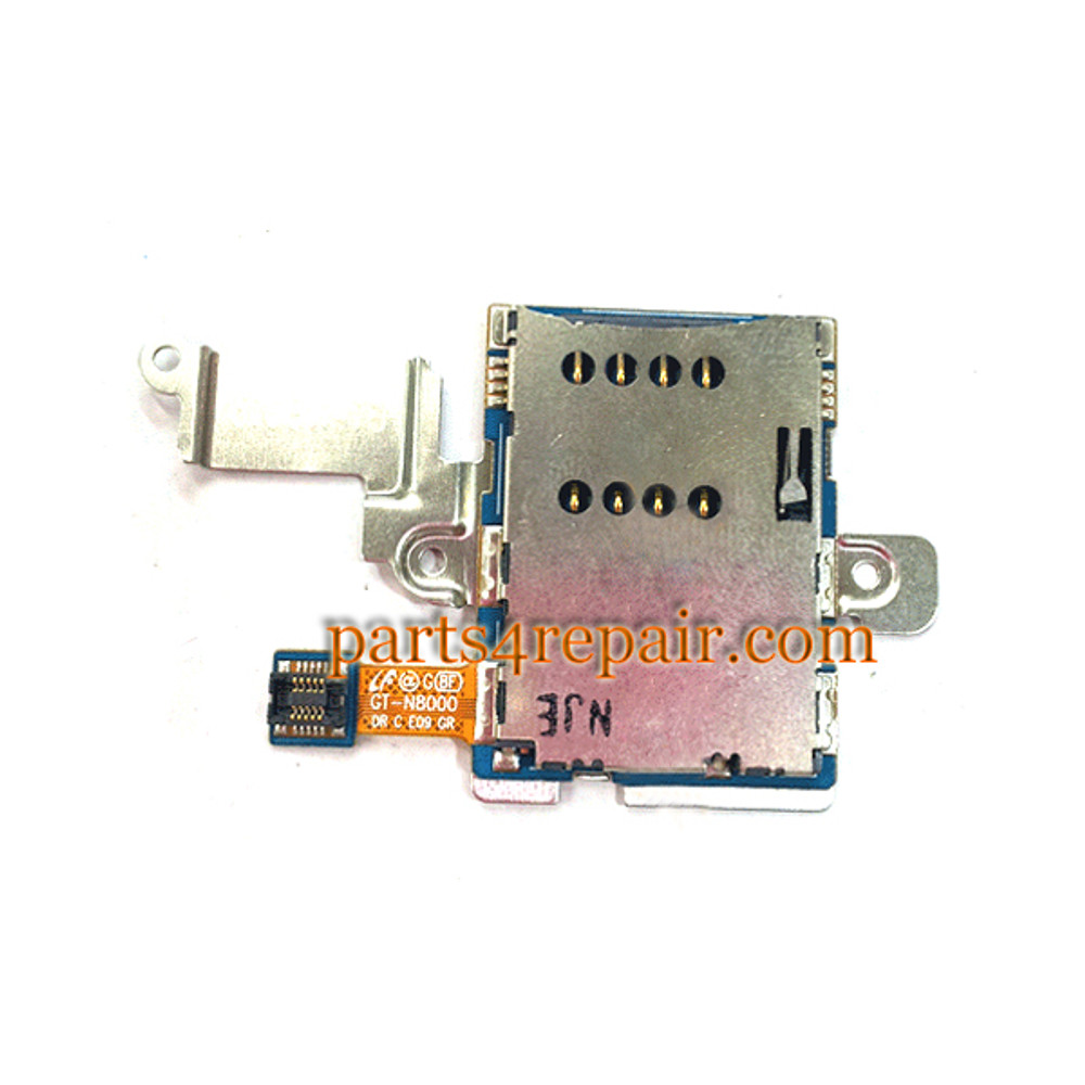 SIM Contact Holder with Metal Bracket for Samsung Galaxy Note 10.1 N8000 from www.parts4repair.com
