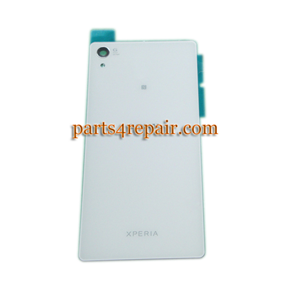 Back Cover for Sony Xperia Z2 -White from www.parts4repair.com