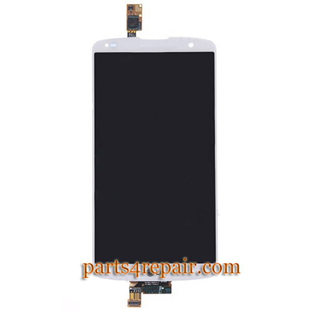 Complete Screen Assembly for LG G Pro 2 F350 D837 D838 -White from www.parts4repair.com