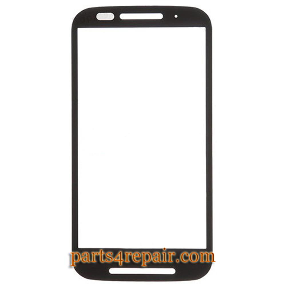 Front Glass for Motorola Moto E XT1021 -Black from www.parts4repair.com