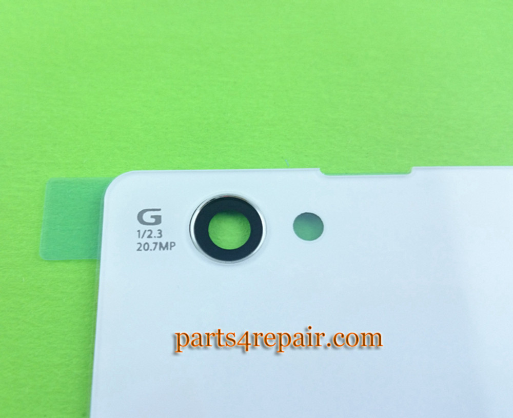 Back Cover OEM for Sony Xperia Z1 Compact mini -White (Plastic)