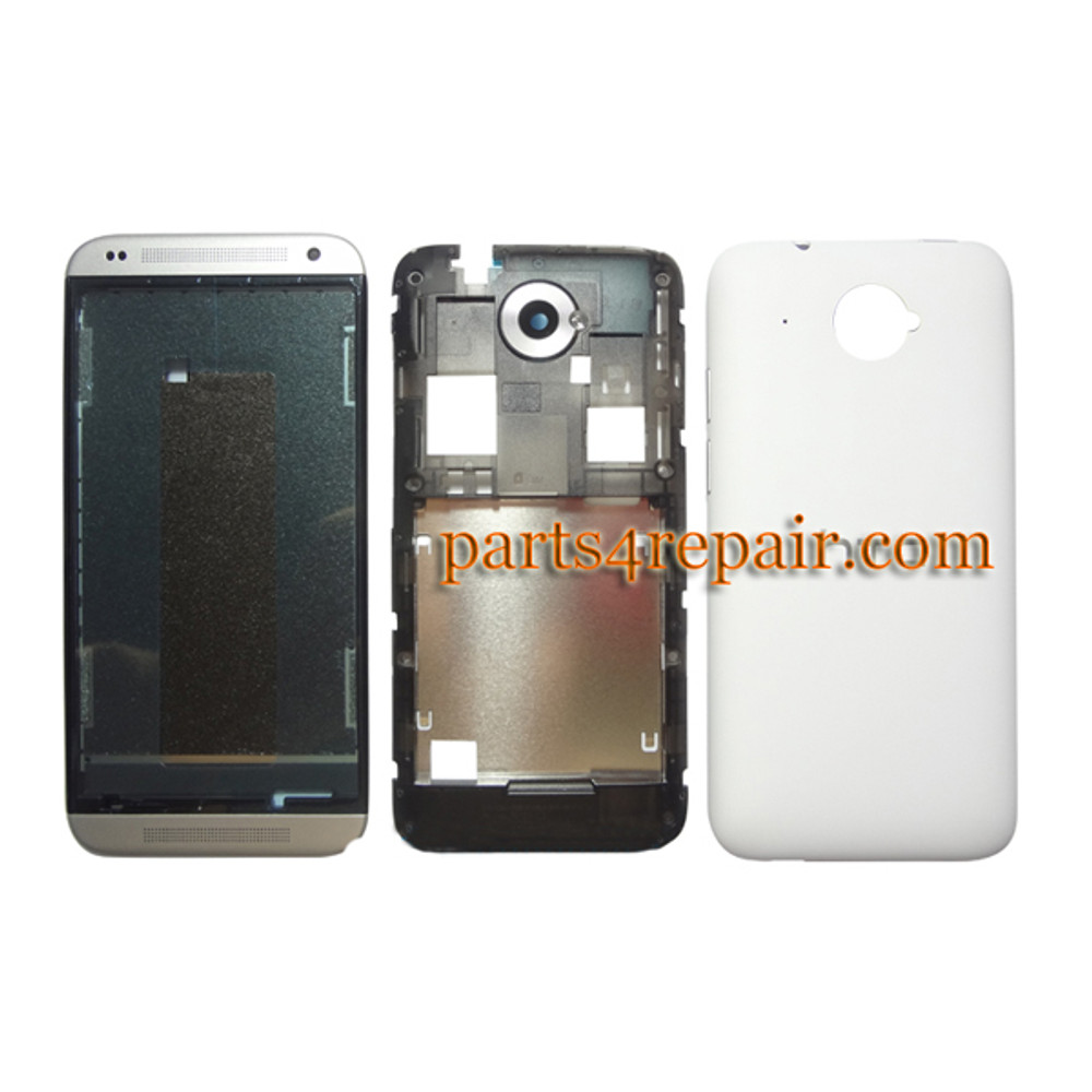 Full Housing Cover for HTC Desire 601 -White from www.parts4repair.com