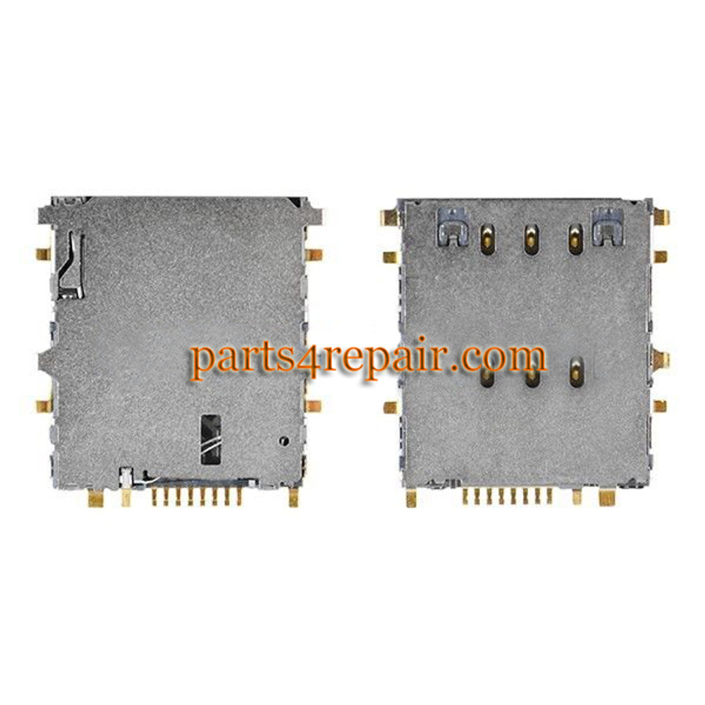 SIM Contact Connector for Samsung P3200 T211 T315 from www.parts4repair.com