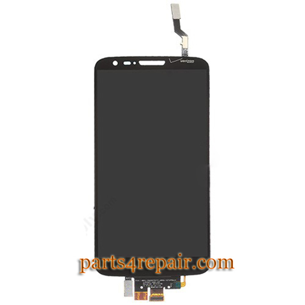 Complete Screen Assembly for LG G2 VS980 -Black (for Verizon)