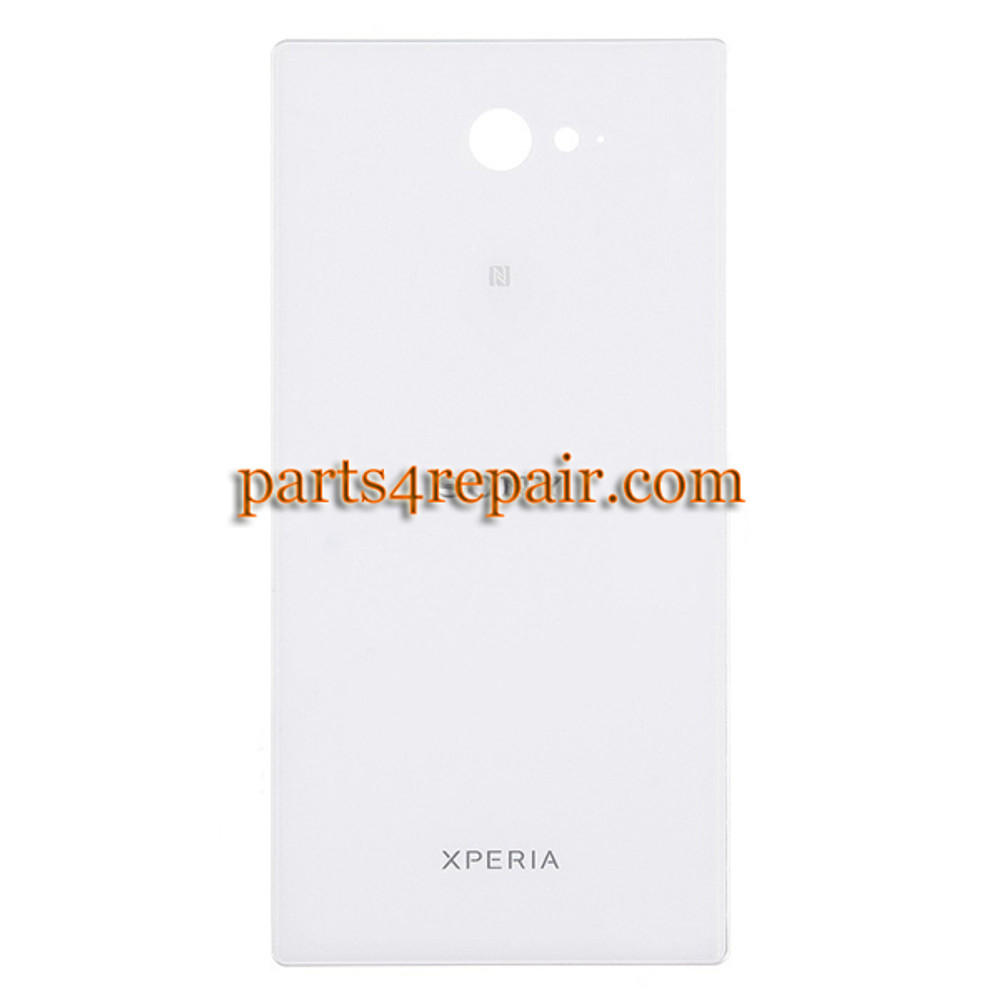 Back Cover for Sony Xperia M2 S50H -White from www.parts4repair.com