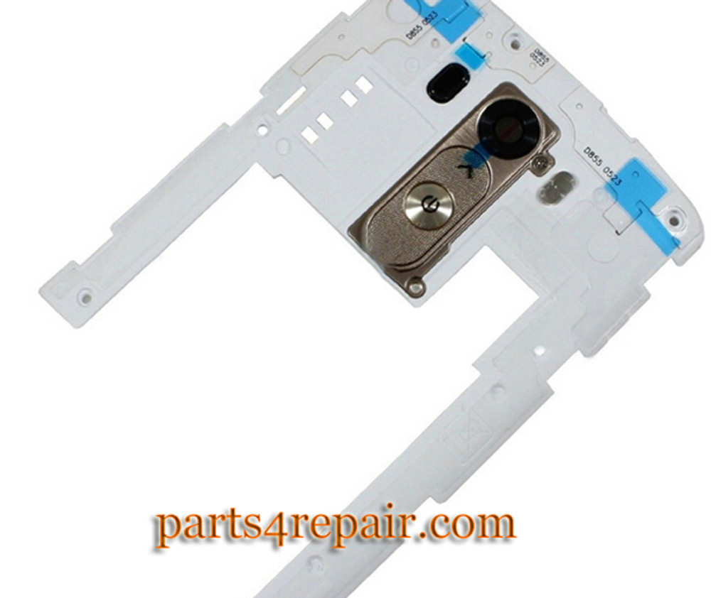 Rear Middle Cover for LG G3 D855 D851 -White from www.parts4repair.com