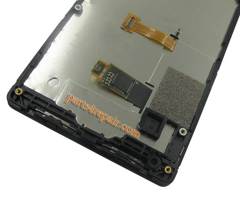Complete Screen Assembly with Bezel for Nokia X2 Dual SIM -Black