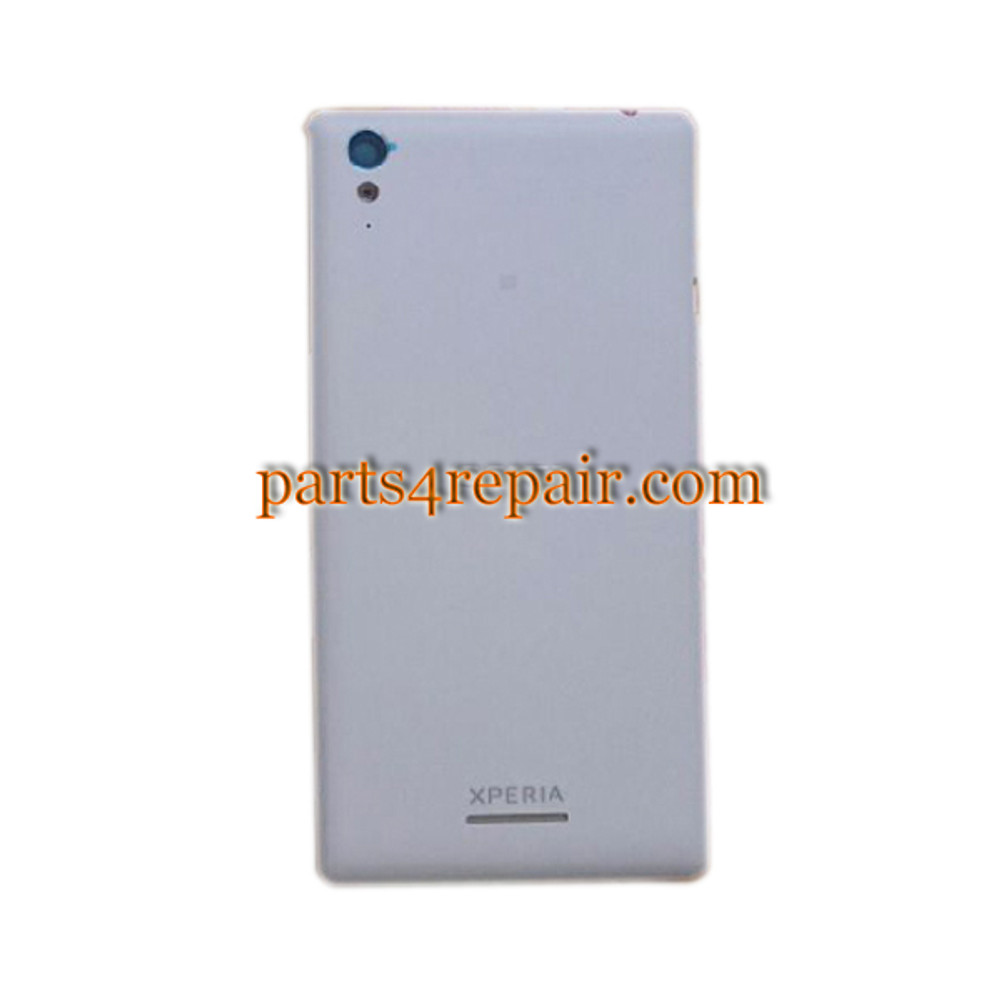 Back Cover with Side Keys for Sony Xperia T3 -White