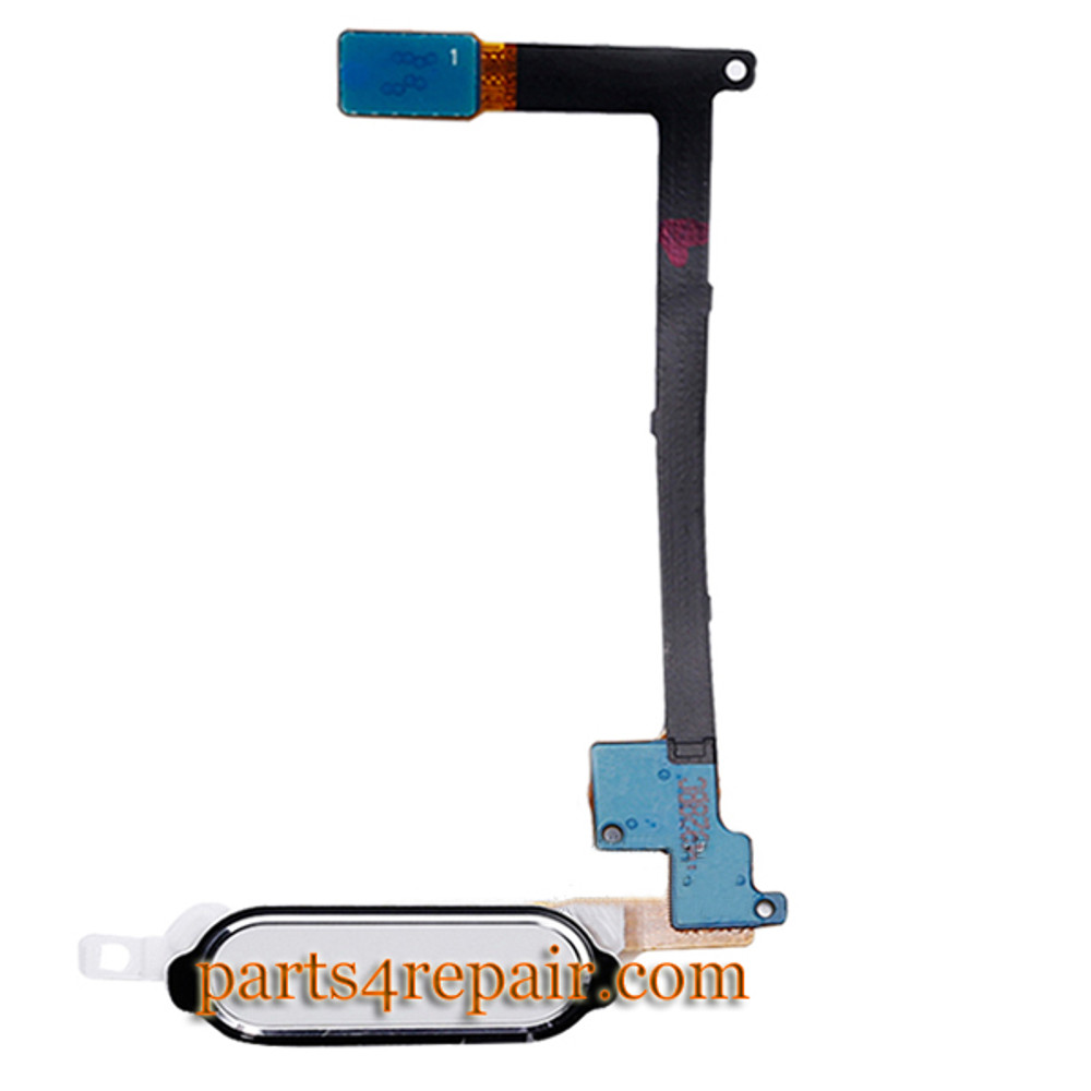 Home Button Flex Cable for Samsung Galaxy Note 4 -White from www.parts4repair.com