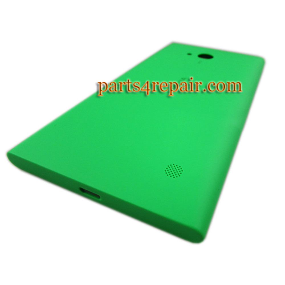 Back Cover with Wireless Charging Coil for Nokia Lumia 730 -Green from www.parts4repair.com
