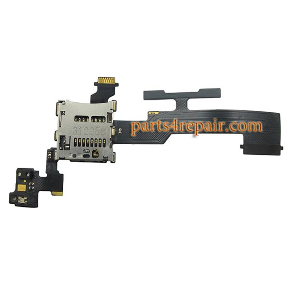 Micro SD Card Contact Flex Cable for HTC One M8