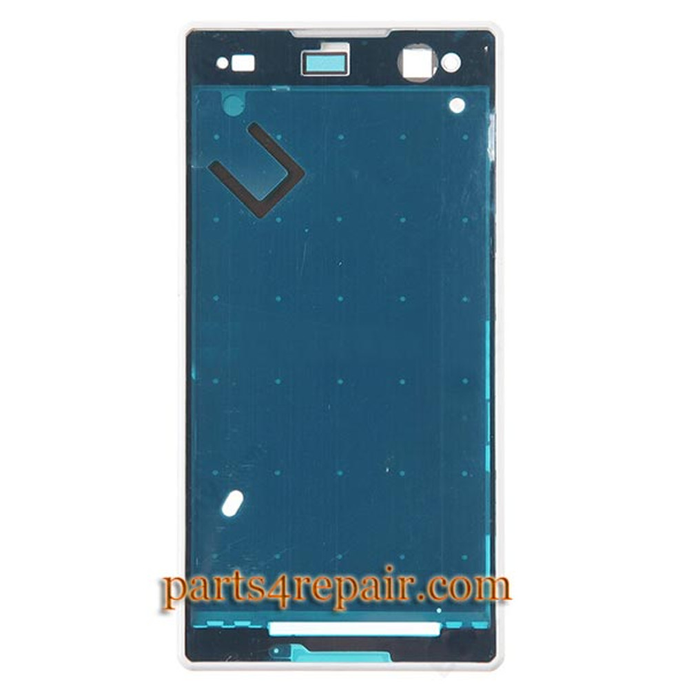 Front Housing Cover for Sony Xperia C3 S55 -White from www.parts4repair.com