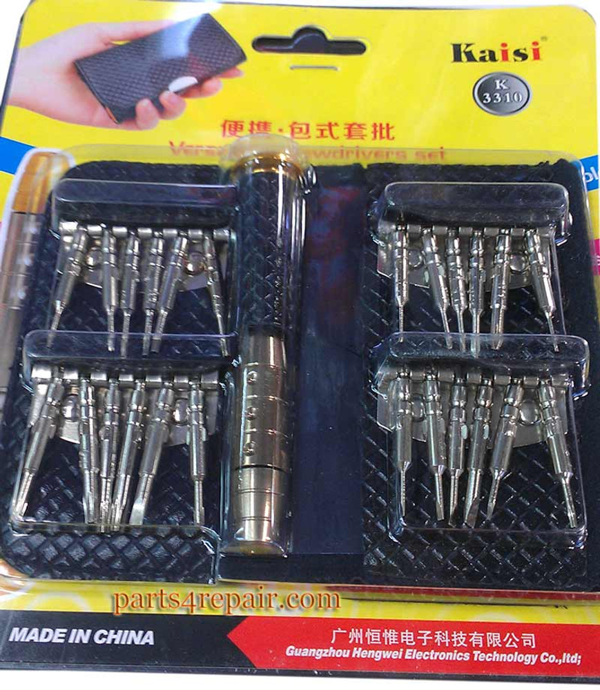 Kaisi 3310A Magnetic Versatile Screwdriver Set Repair Kit with Leather Case for Apple HTC Sony Samsung etc Smartphone