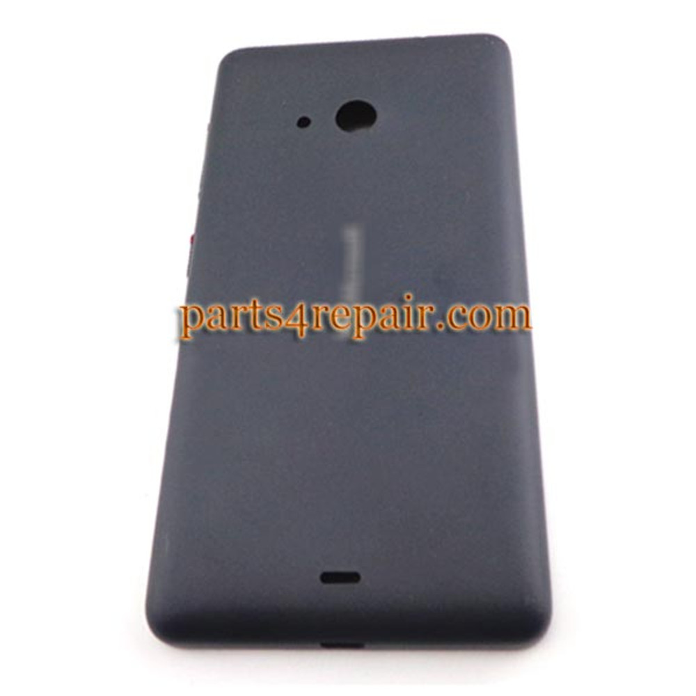 Back Cover with Side Keys for Microsoft Lumia 535 -Black (Smooth and Bright) from www.parts4repair.com
