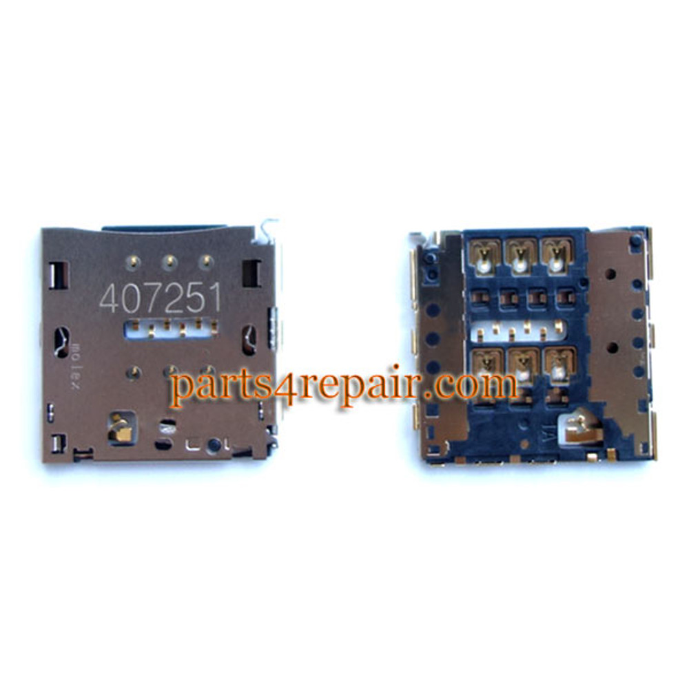 SIM Contact Connector for Huawei Ascend Mate 7 MT7-T10 from www.parts4repair.com