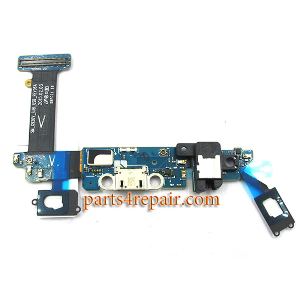 Dock Charging Flex Cable for Samsung Galaxy S6 G920V from www.parts4repair.com