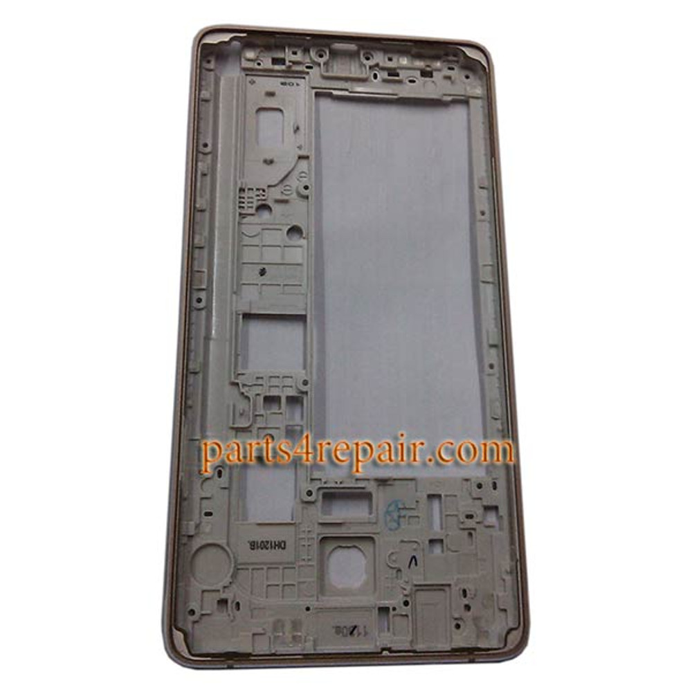 Middle Cover without small parts for Samsung Galaxy Note 4 N910C -Gold