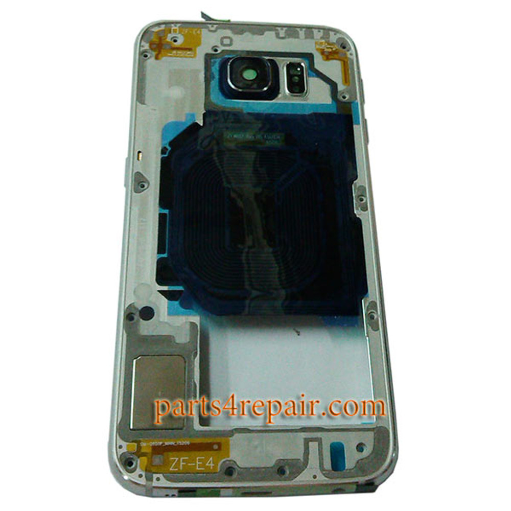 Middle Housing Cover for Samsung Galaxy S6 G920F -Silver