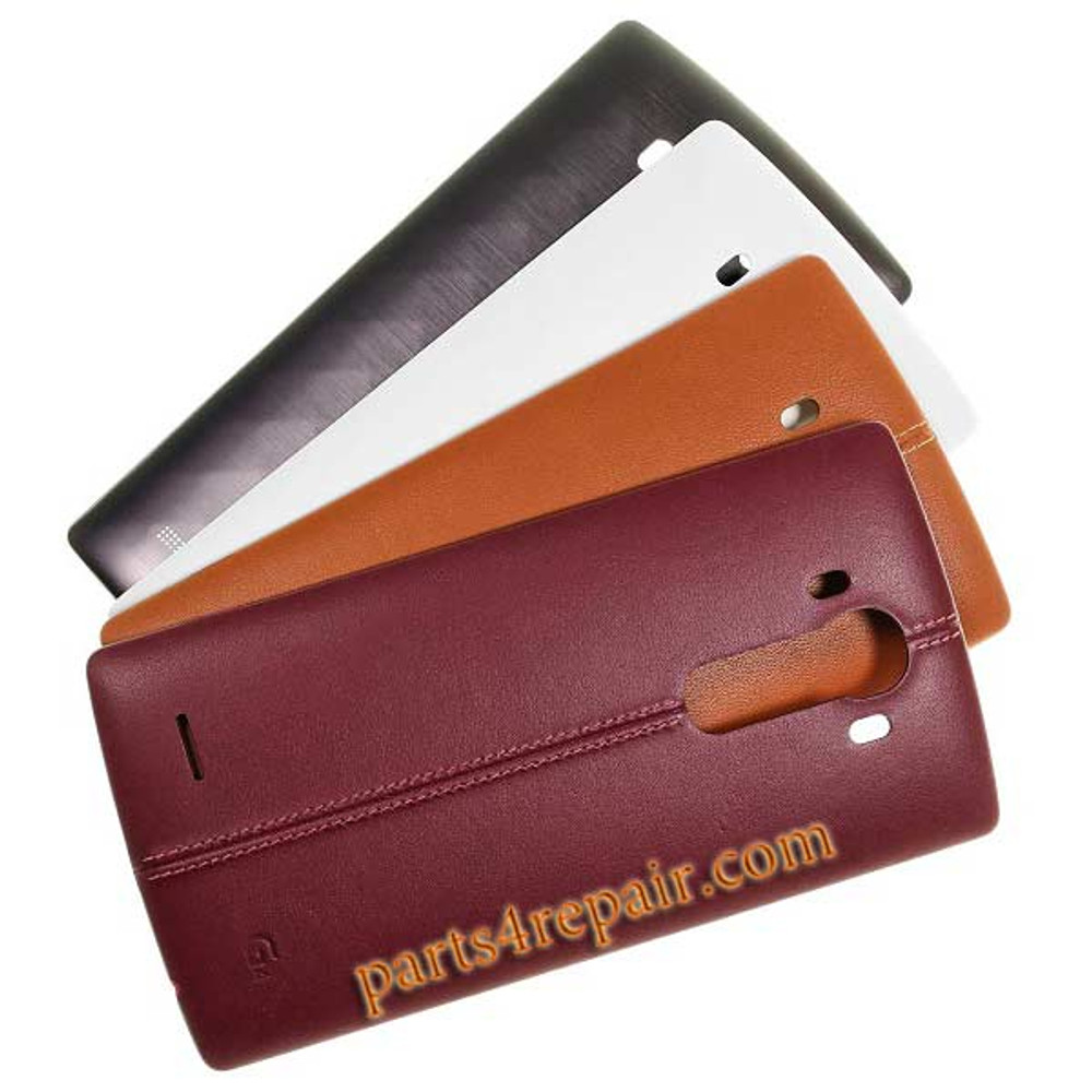 Back Cover with NFC for LG G4 -Leather Brown