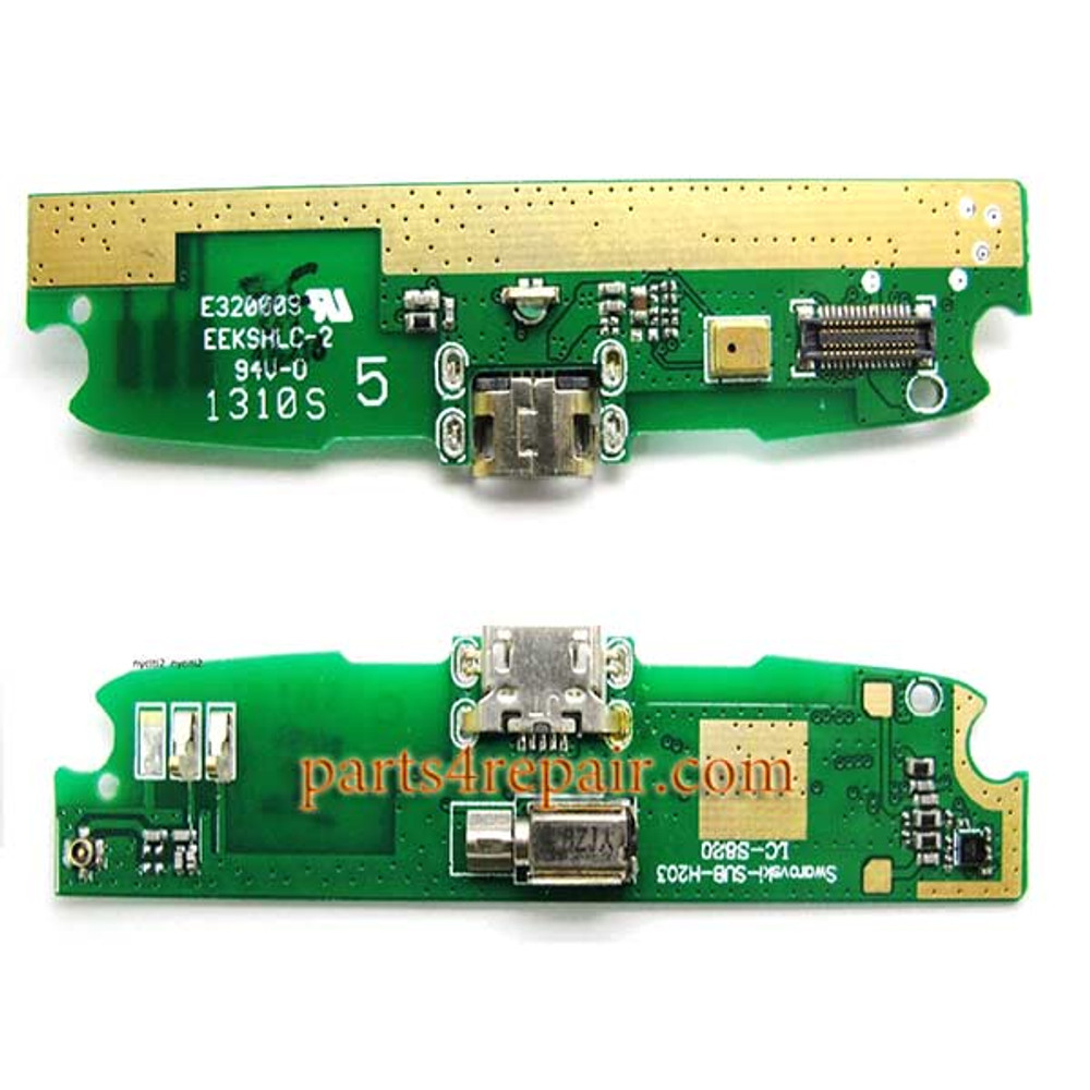 Dock Charging PCB Board for Lenovo S820 from www.parts4repair.com