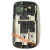 Samsung I8190 Galaxy s III mini Front Bezel for LCD Screen -White