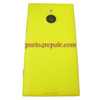 Back Housing Assembly Cover OEM with Wireless Charging Coil for Nokia Lumia 1520 -Yellow
