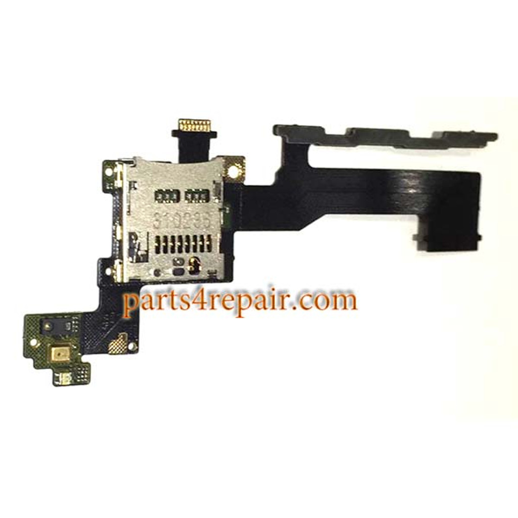 SD Card Connector Flex Cable for HTC One M9 from www.parts4repair.com
