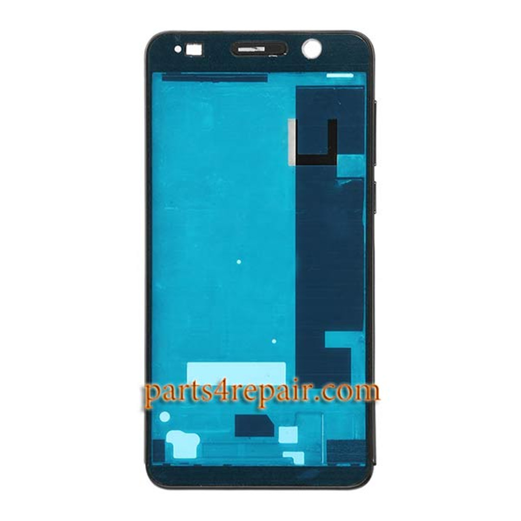 Front Housing Cover with Adhesive for Huawei Honor 6 (Single SIM) -Black