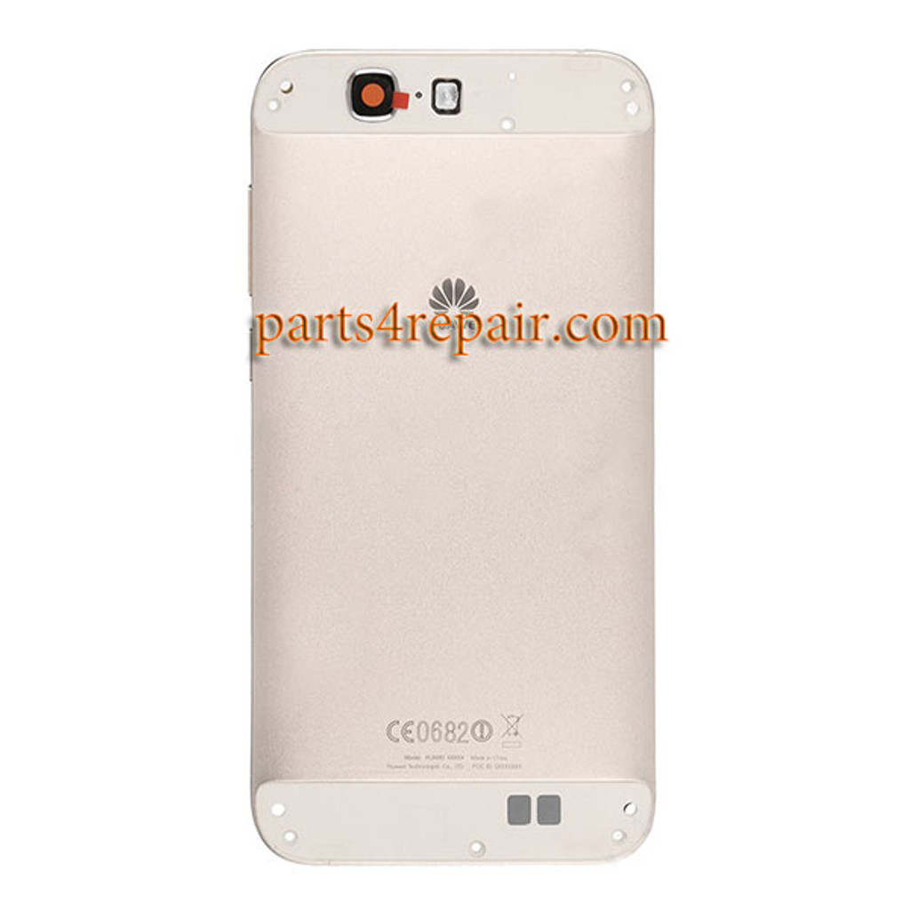 Back Housing Cover without Top and Bottom Cover for Huawei Ascend G7 -Gold
