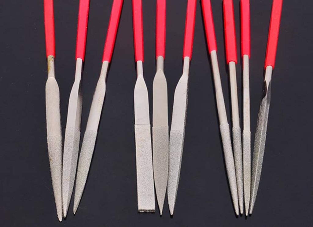 10pcs/set Diamond Needle Multiple Shaping File Tools