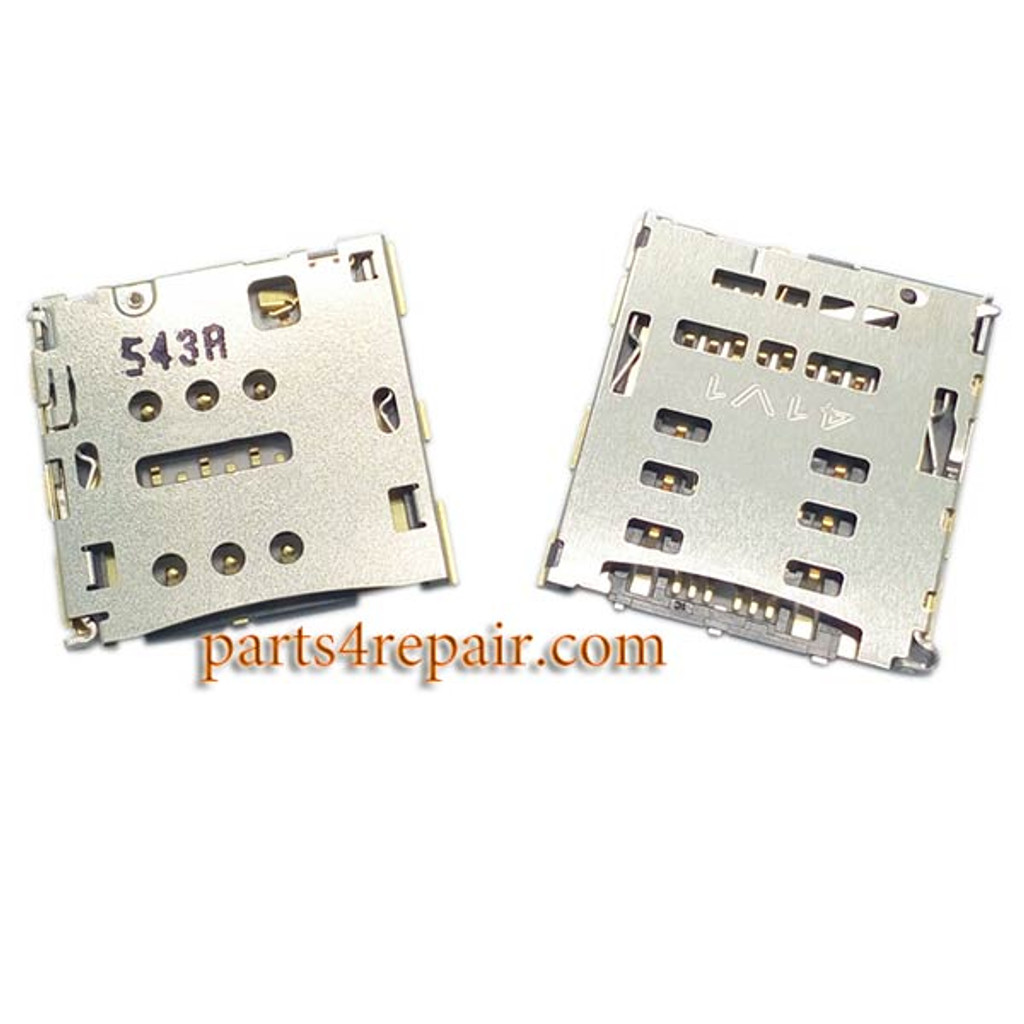SIM Connector & SD Card Connector for Huawei Ascend G7 from www.parts4repair.com