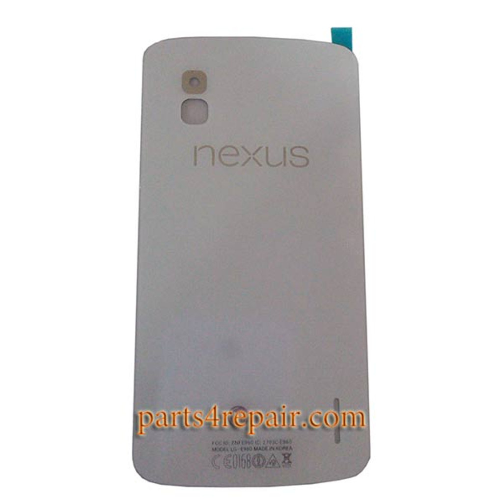 Glass Back Cover for LG Nexus 4 E960 -White