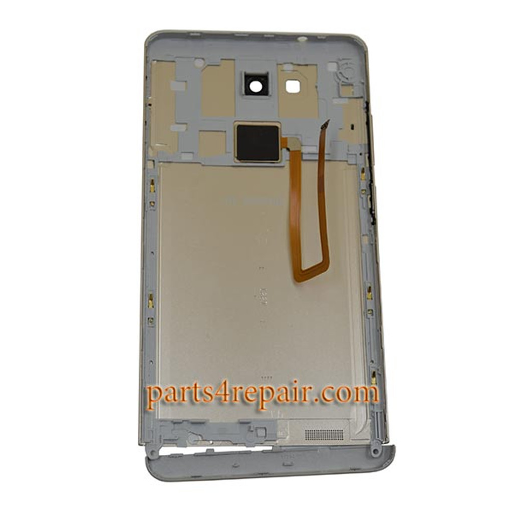 Back Housing Cover with Fingerprint Sensor Flex Cable for Huawei Ascend Mate 7 -Gold
