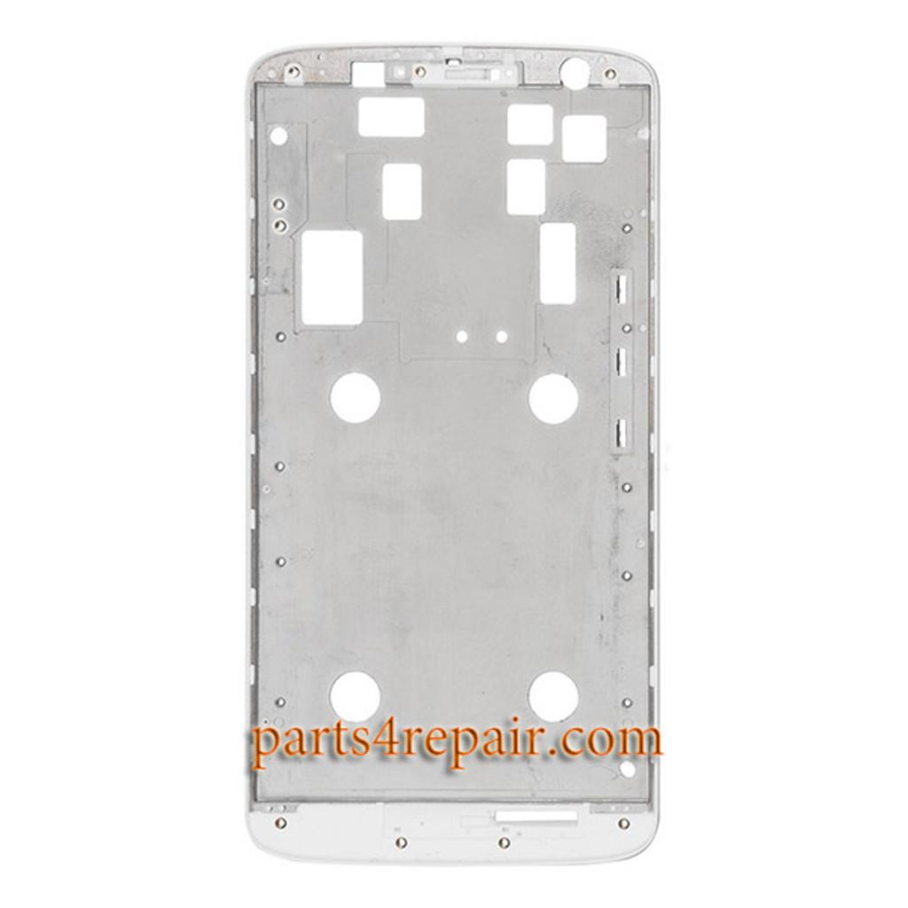 "Front Housing Cover for Motorola Moto X Play 5.5"" -White"