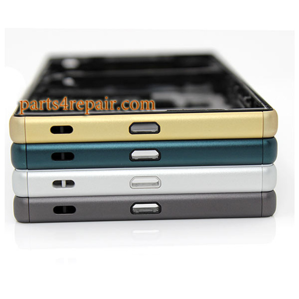 Middle Housing Cover with Small Parts for Sony Xperia Z5 -Gold