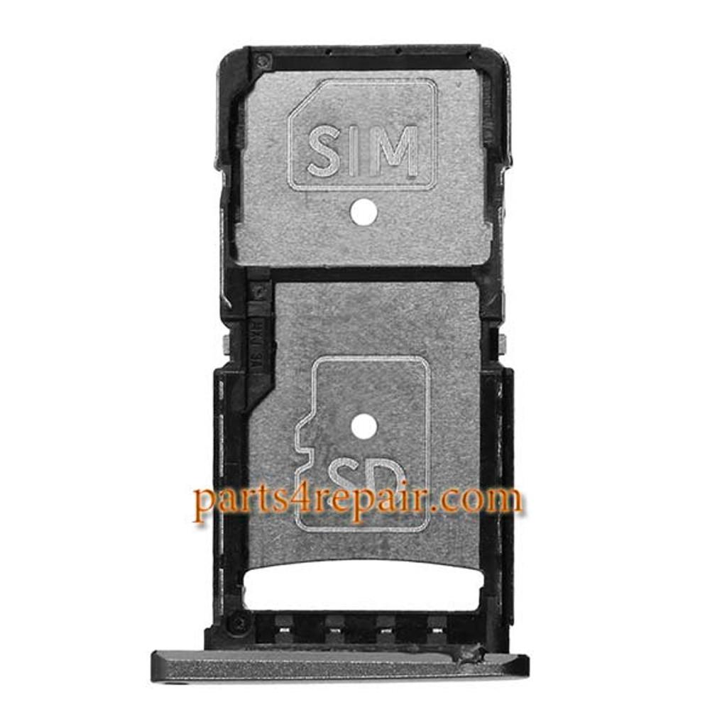 SIM Tray for Motorola Droid Turbo 2 XT1580 XT1585 -Black