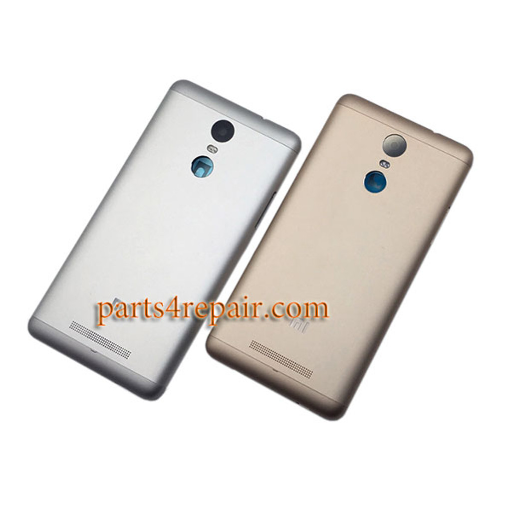 Back Cover with Side Keys for Xiaomi Redmi Note 3 (Mediatek version) -Silver