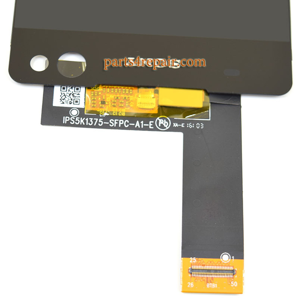 Complete Screen Assembly for Sony Xperia C5 Ultra -Black