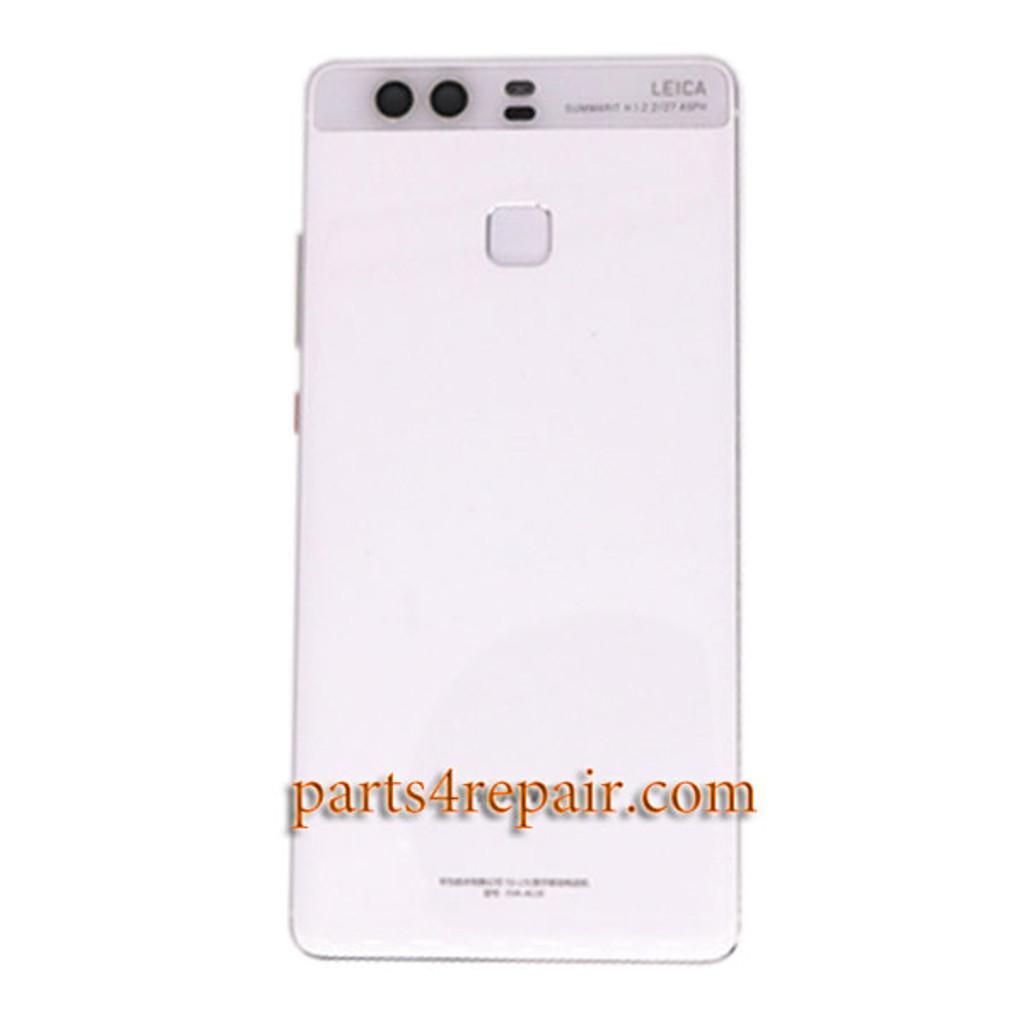 Back Housing Cover with Fingerprint Sensor Flex Cable for Huawei P9 Plus -White