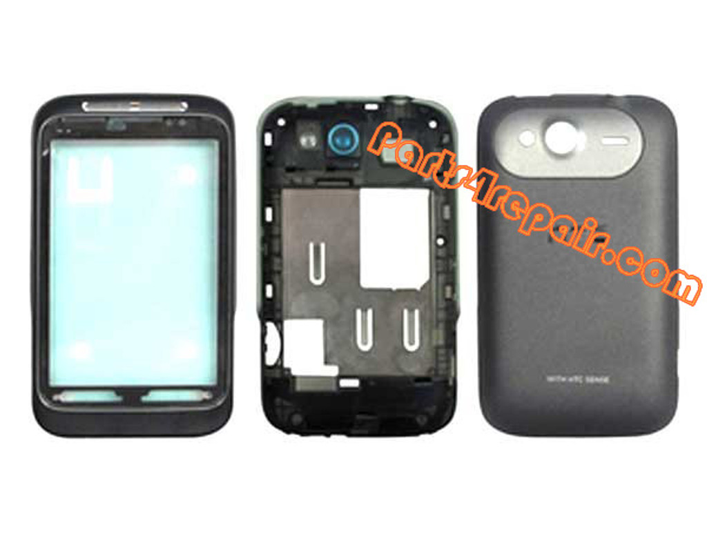 HTC Wildfire S Housing Cover Assembly Black from www.parts4repair.com