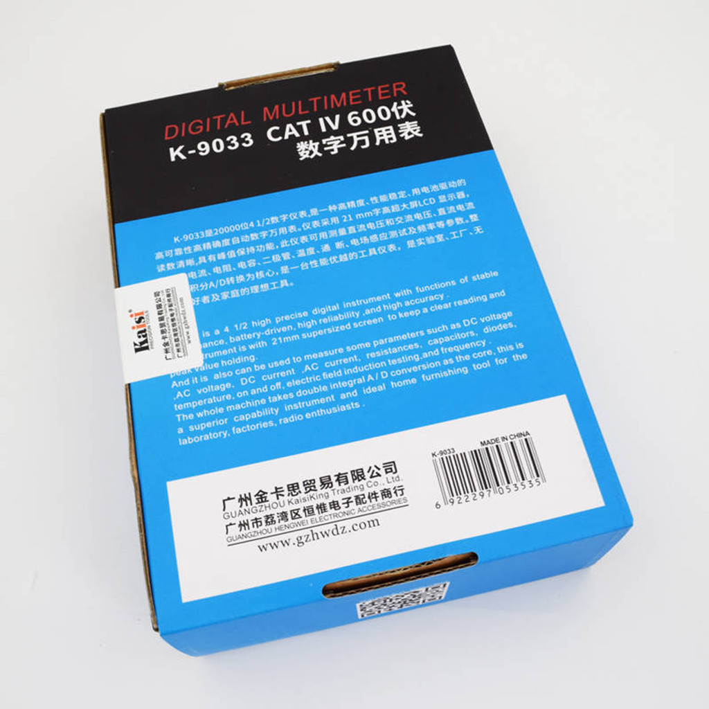 Kaisi Digital Multimeter True RMS Capacitor Temperature Measurement