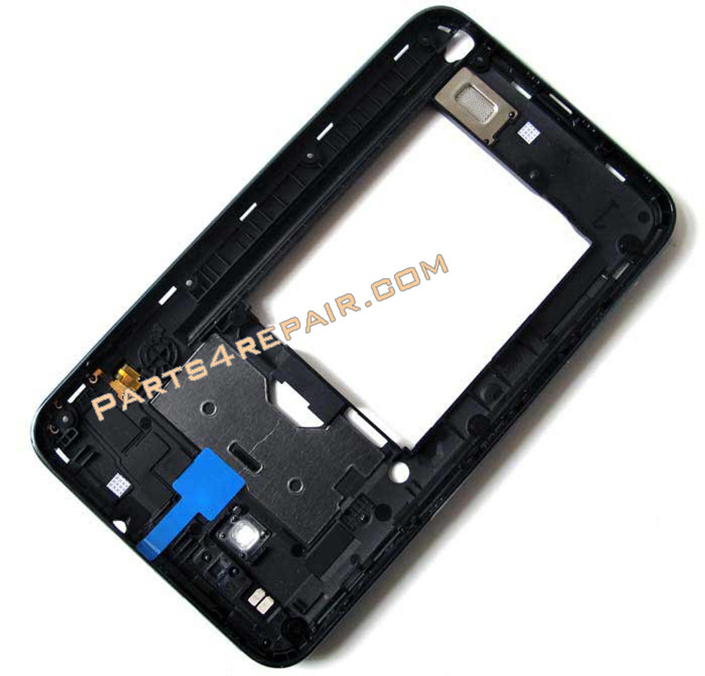 Samsung Galaxy Note N7000 Middle Housing Cover with Side Keys -Black