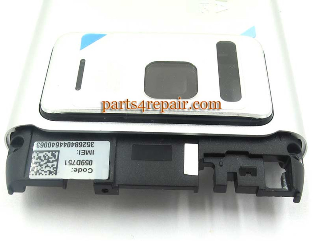 Battery Cover with Middle Panel for Nokia N8 -Sliver