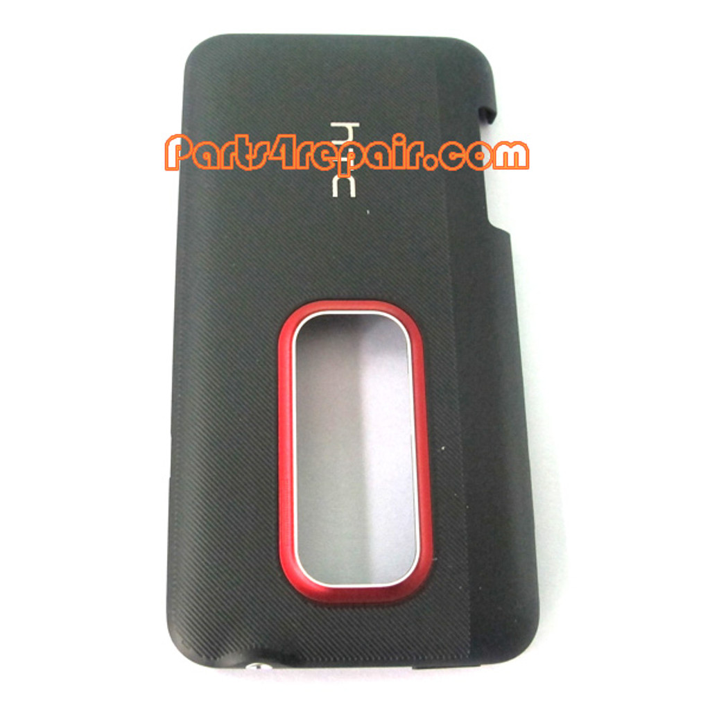 HTC EVO 3D Back Cover -Black from www.parts4repair.com