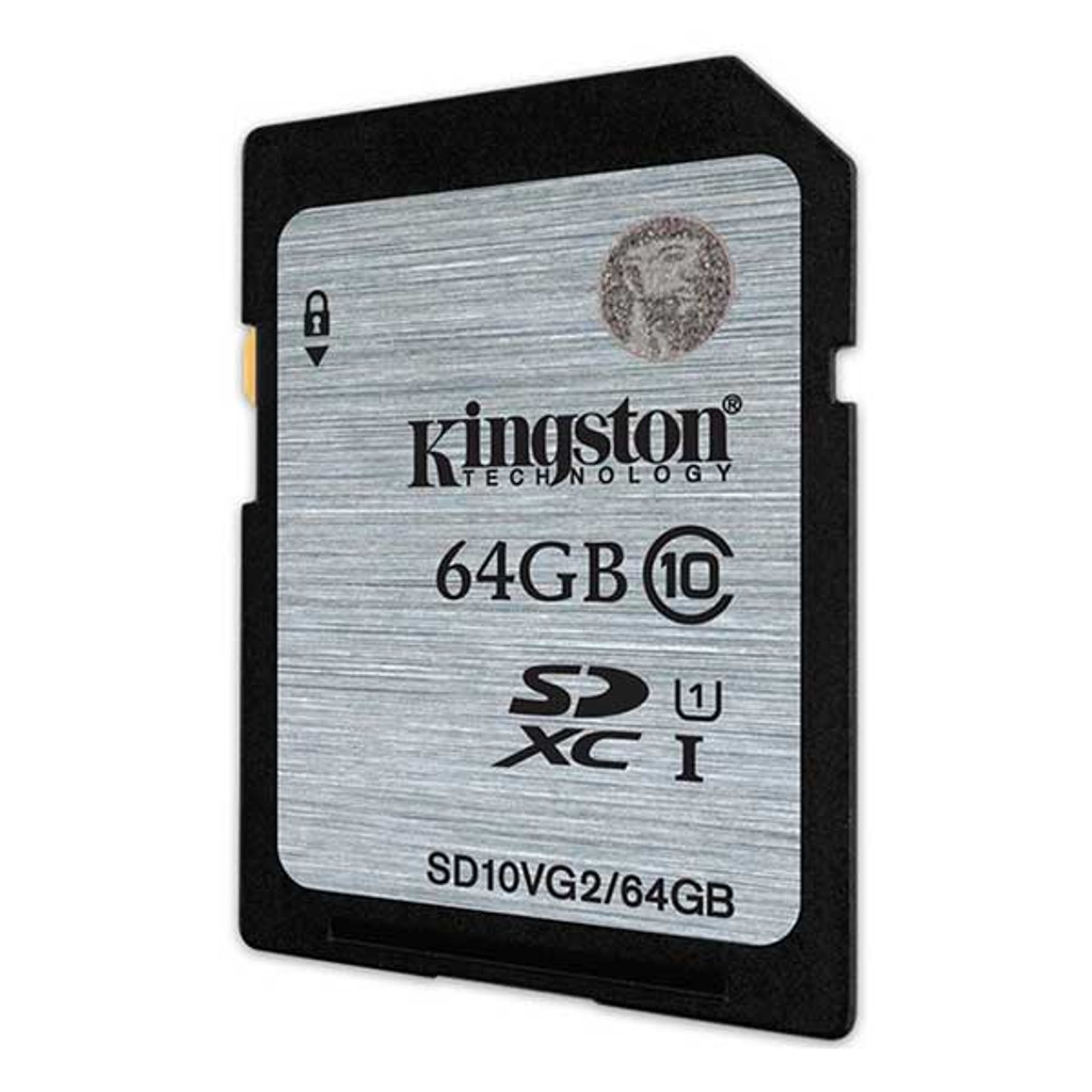 Kingston 64GB SDHC Class 10 Memory Card 80MB/S UHS-I Flash Card