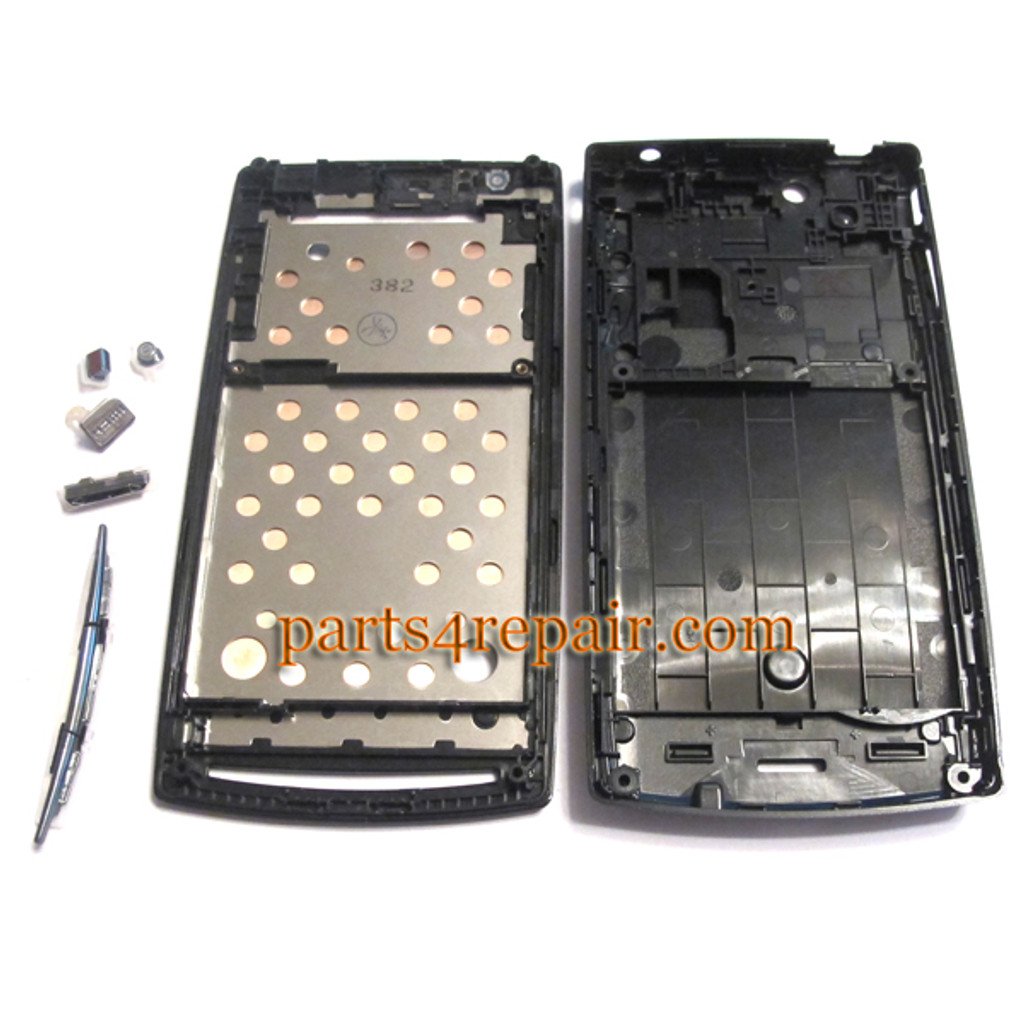 Full Housing cover for Sony Ericsson Xperia Arc S LT18I / LT15I  -Black